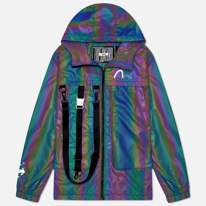 Мужская куртка Evisu Evisukuro Glitched Seagull Packable Windbreaker Black