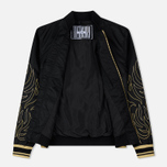 Мужская куртка Evisu Evisukuro Signature Embroidered MA-1 Black фото- 1