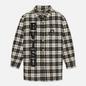 Мужская куртка Evisu Graffiti Oversize Padded Flannel Shirket Ecru фото - 0