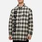Мужская куртка Evisu Graffiti Oversize Padded Flannel Shirket Ecru фото - 3