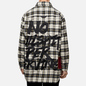 Мужская куртка Evisu Graffiti Oversize Padded Flannel Shirket Ecru фото - 4