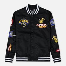 Мужская куртка Evisu Heritage NBA Clubs Embroidered Badges Black фото- 0