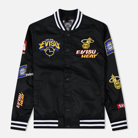 Мужская куртка Evisu Heritage NBA Clubs Embroidered Badges Black