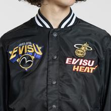 Мужская куртка Evisu Heritage NBA Clubs Embroidered Badges Black фото- 5