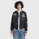 Мужская куртка Evisu Heritage NBA Clubs Embroidered Badges Black фото- 3