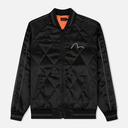 Мужская куртка Evisu Quilted Souvenir Embroidery Black
