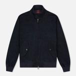 Мужская куртка харрингтон Baracuta G9 Classic Suede Marine фото- 0