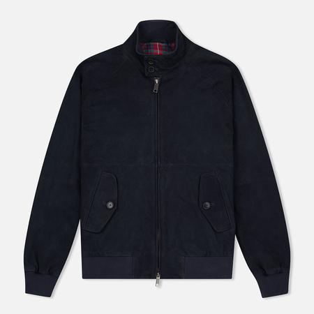 Мужская куртка харрингтон Baracuta G9 Classic Suede Marine