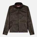 Мужская куртка харрингтон Baracuta G9 Oiled Leather Dark Brown фото- 0