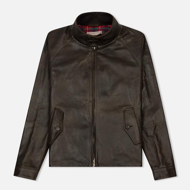 Мужская куртка харрингтон Baracuta G9 Oiled Leather Dark Brown