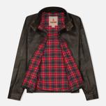 Мужская куртка харрингтон Baracuta G9 Oiled Leather Dark Brown фото- 1