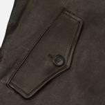 Мужская куртка харрингтон Baracuta G9 Oiled Leather Dark Brown фото- 4