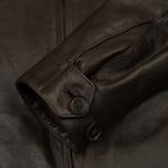 Мужская куртка харрингтон Baracuta G9 Oiled Leather Dark Brown фото- 5