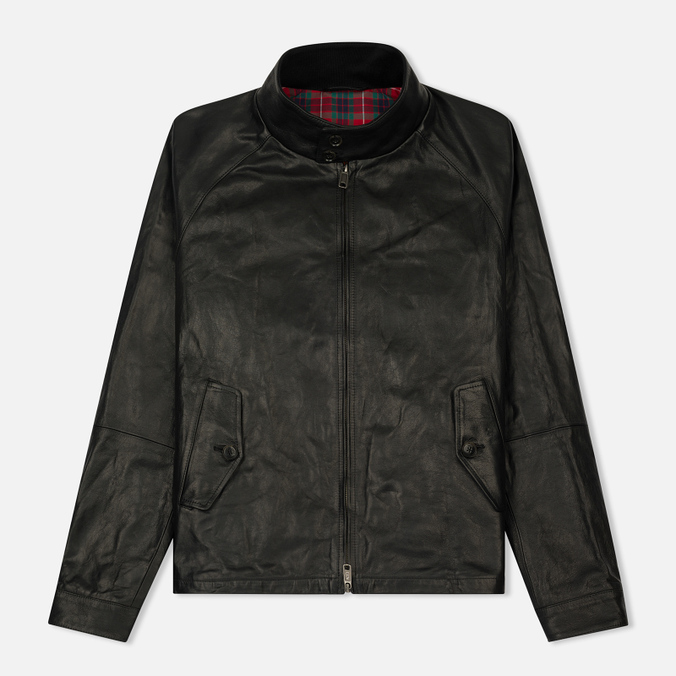 Мужская куртка харрингтон Baracuta G9 Oiled Leather Faded Black