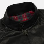 Мужская куртка харрингтон Baracuta G9 Oiled Leather Faded Black фото- 2