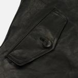 Мужская куртка харрингтон Baracuta G9 Oiled Leather Faded Black фото- 4