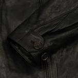 Мужская куртка харрингтон Baracuta G9 Oiled Leather Faded Black фото- 5