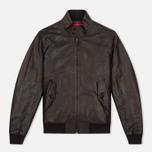 Мужская куртка харрингтон Baracuta G9 Padded Soft Oiled Leather Wood Brown фото- 0