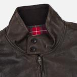 Мужская куртка харрингтон Baracuta G9 Padded Soft Oiled Leather Wood Brown фото- 1