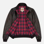Мужская куртка харрингтон Baracuta G9 Padded Soft Oiled Leather Wood Brown фото- 2