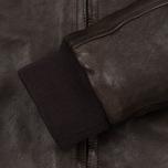 Мужская куртка харрингтон Baracuta G9 Padded Soft Oiled Leather Wood Brown фото- 3
