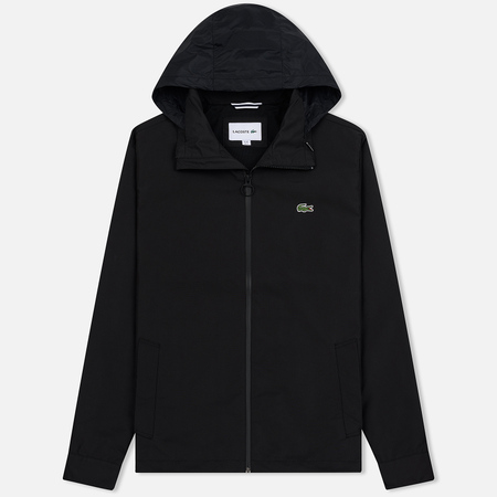 Мужская куртка Lacoste Concealed Hood Zippered Lightweight Taffeta Black