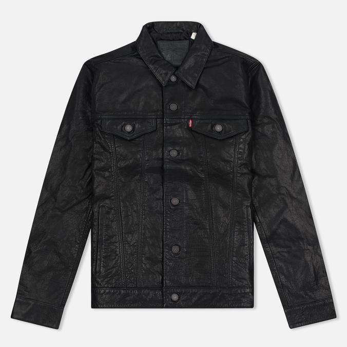 Мужская куртка Levi's Trucker Buffalo Leather Black