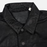 Мужская куртка Levi's Trucker Buffalo Leather Black фото- 1