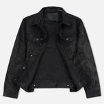 Мужская куртка Levi's Trucker Buffalo Leather Black фото- 2