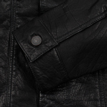Мужская куртка Levi's Trucker Buffalo Leather Black фото- 4