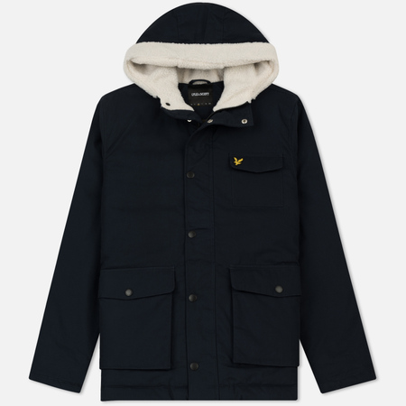 Мужская куртка Lyle & Scott Shearling Coat Navy