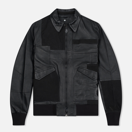 Мужская куртка maharishi Panelwork MA Leather Black