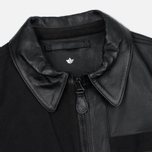 Мужская куртка maharishi Panelwork MA Leather Black фото- 1