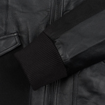 Мужская куртка maharishi Panelwork MA Leather Black фото- 3