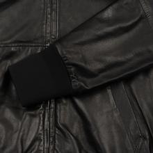 Мужская куртка Maison Margiela Leather Reversible Hoodie Black/Black фото- 4