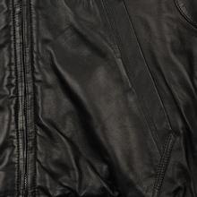 Мужская куртка Maison Margiela Leather Reversible Hoodie Black/Black фото- 5