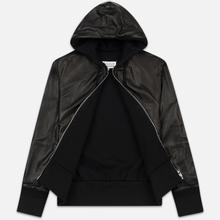 Мужская куртка Maison Margiela Leather Reversible Hoodie Black/Black фото- 1