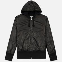 Мужская куртка Maison Margiela Leather Reversible Hoodie Black/Black фото- 0