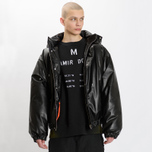 Мужская куртка MSGM Puffer Embroidered Logo Black фото- 7