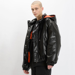 Мужская куртка MSGM Puffer Embroidered Logo Black фото- 8
