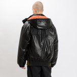 Мужская куртка MSGM Puffer Embroidered Logo Black фото- 10