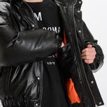 Мужская куртка MSGM Puffer Embroidered Logo Black фото- 11