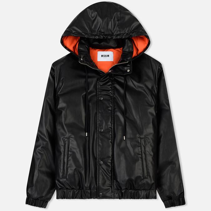 Мужская куртка MSGM Puffer Embroidered Logo Black