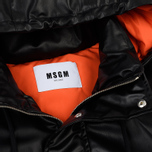 Мужская куртка MSGM Puffer Embroidered Logo Black фото- 1