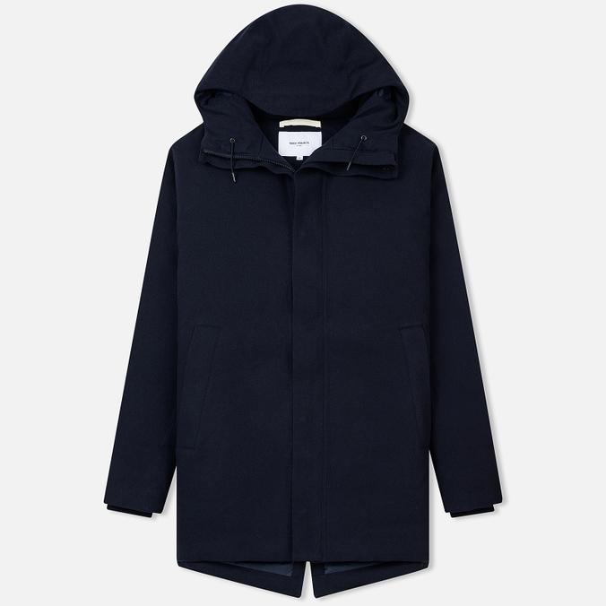 Мужская куртка Norse Projects Rokkvi 4.0 Gore-Tex Waterproof Wool Dark Navy fe4e90b5273