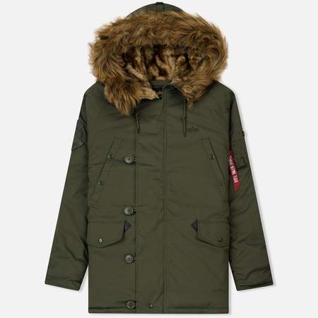 Мужская куртка парка Alpha Industries Explorer Dark Green
