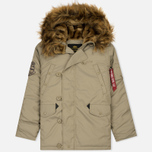 Мужская куртка парка Alpha Industries Explorer Khaki фото- 0