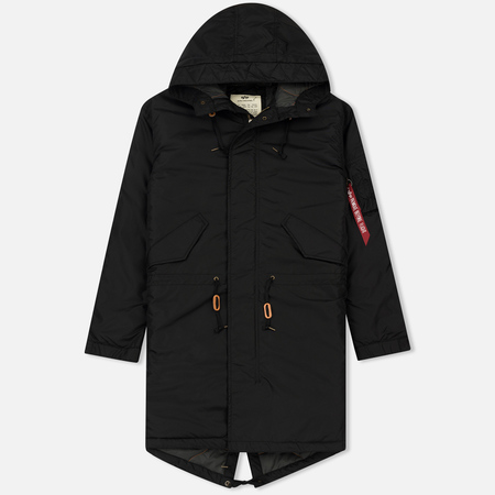Мужская куртка парка Alpha Industries Hooded Fishtail CW TT Black
