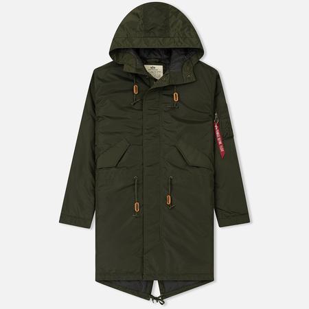 Мужская куртка парка Alpha Industries Hooded Fishtail CW TT Dark Green