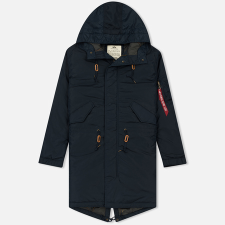 Мужская куртка парка Alpha Industries Hooded Fishtail CW TT Replica Blue
